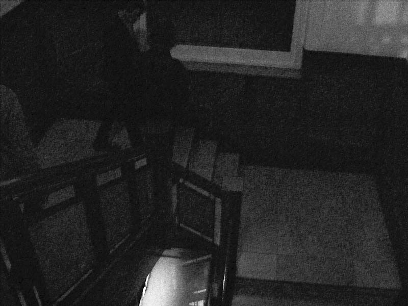 Darkened staircase