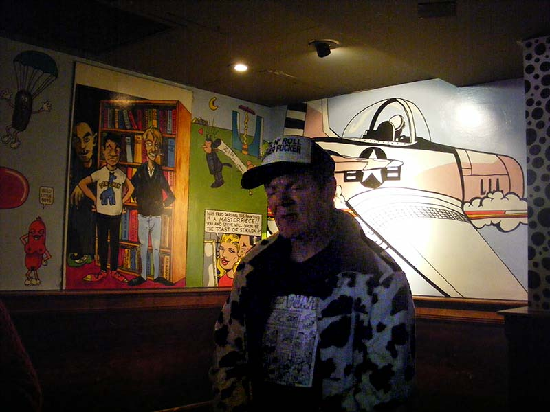 Fred Negro and his murals at Prince of Wales